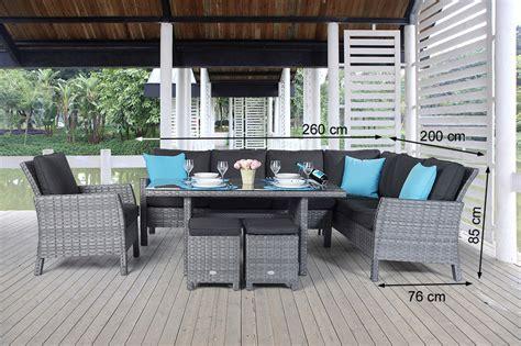 Gartenmöbel, Lounge Dining, Rattanmöbel, Gartentisch Set