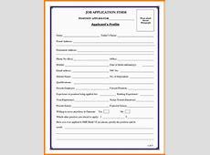 8+ job application form samples ledger paper