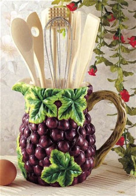 grapes wine kitchen utensil tool set decor pitcher 7