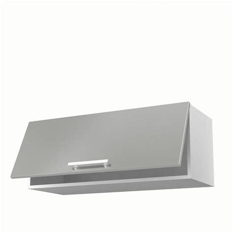 meuble de cuisine haut gris 1 porte d 233 lice h35xl90xp35 cm leroy merlin