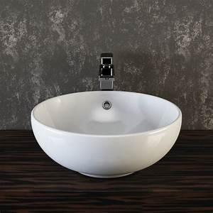 Bemalte Keramik Waschbecken : vilstein keramik waschbecken aufsatzwaschbecken waschtisch rund wei ca 44 cm ~ Markanthonyermac.com Haus und Dekorationen