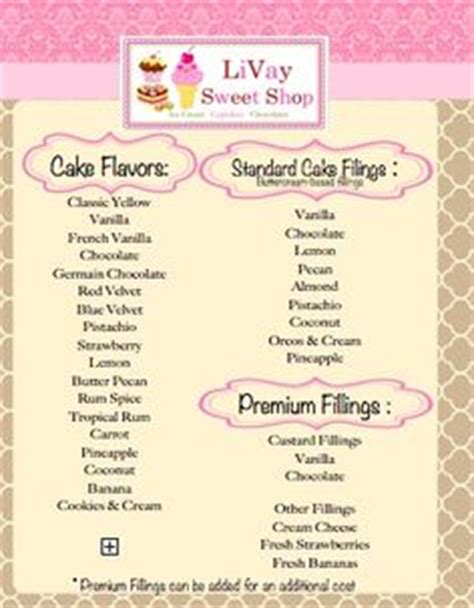 cake flavors list 1000 images about cake business on cake