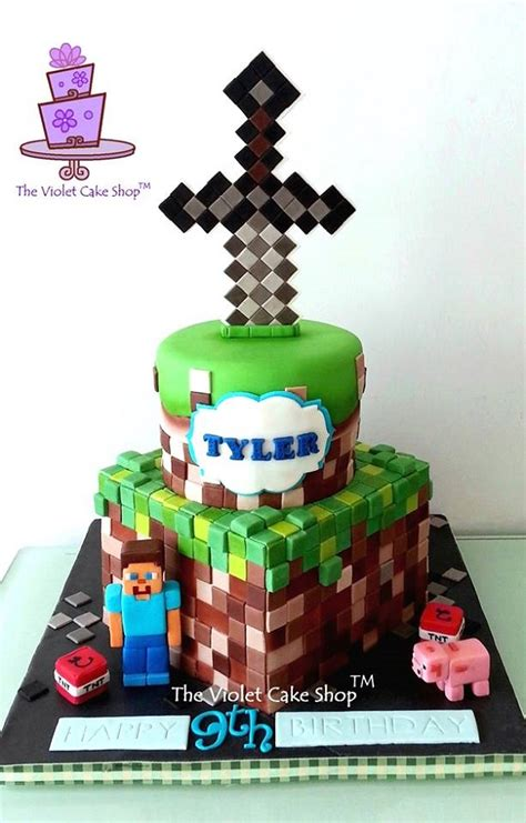 constructing minecraft cake designs and block ideas