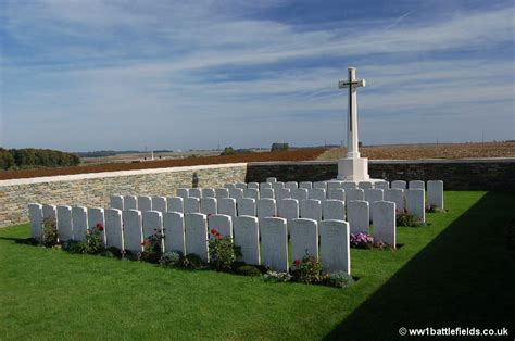 Serre Road Cemetery by Serre Sheffield Memorial Park World War One Battlefields