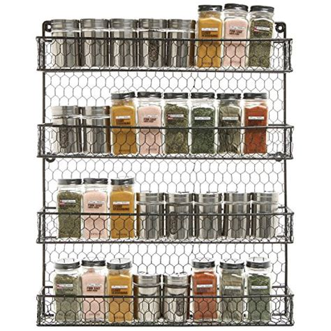 4 Tier Black Country Rustic Chicken Wire Pantry, Cabinet