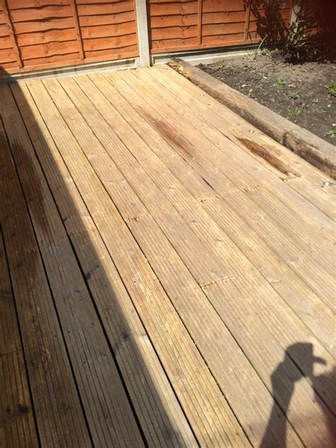 patio and decking cleaning careful care