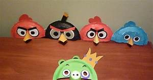 Angry Birds made out of paper plates and colored paper ...