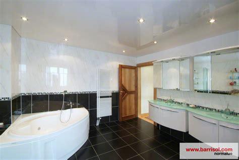 photos plafond tendu particulier salle de bain