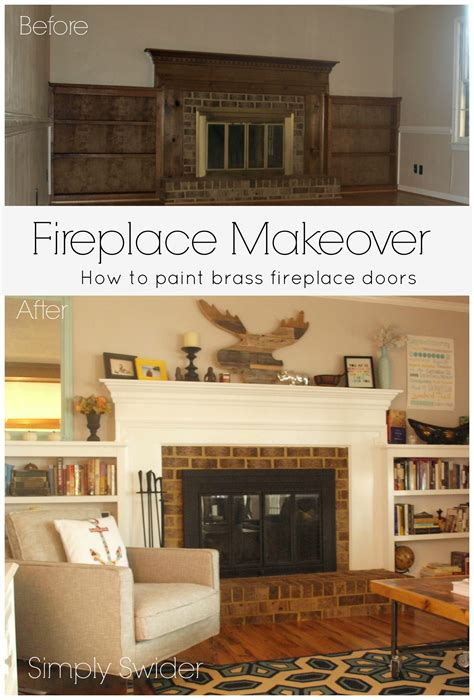 Fireplace Makeover Part 2 Painting Brass Fireplace Doors