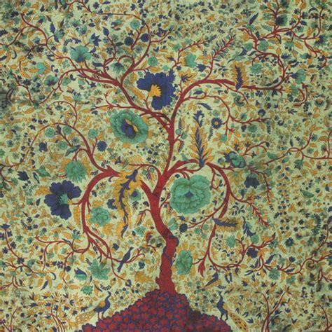 tenture indienne quot arbre de vie quot vert tentures murales artisanales sur artiglobe