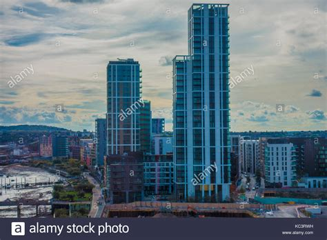 Boat From Tower Hill To North Greenwich by High Rise Blocks Uk Stock Photos High Rise Blocks Uk