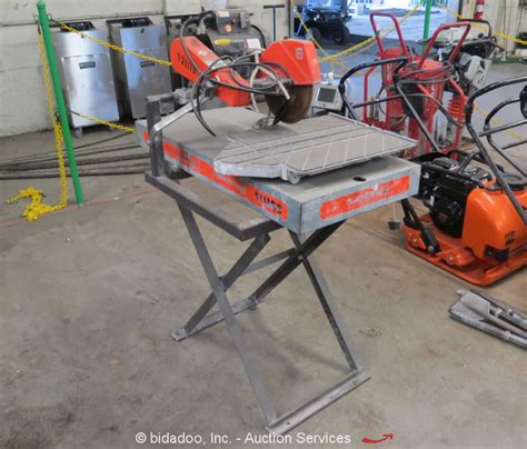 2011 husqvarna tilematic ts250x electric 10 quot masonry tile brick saw w stand
