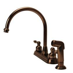 fontaine 2 handle widespread high arc brushed bronze kitchen faucet