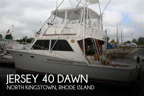 Used Pontoon Boats For Sale In North Jersey by For Sale Used 1985 Jersey 40 Dawn In North Kingstown