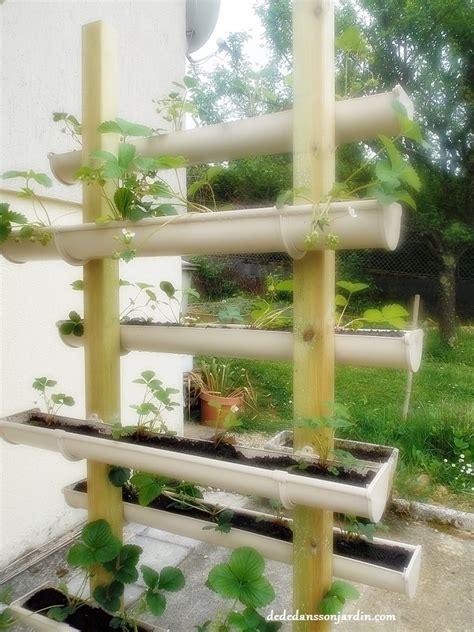 diy cultiver des fraises en hauteur dans des goutti 232 res d 233 d 233 dans jardin