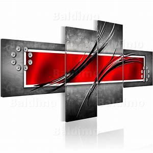 Bilder Auf Leinwand Kaufen : leinwand bilder xxl fertig aufgespannt bild abstrakt gr n rot violett 051472 ebay ~ Markanthonyermac.com Haus und Dekorationen