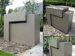 Briefkasten Edelstahl Design : briefkasten minimalistisches design edelstahl beton briefkasten pinterest minimalistisches ~ Markanthonyermac.com Haus und Dekorationen