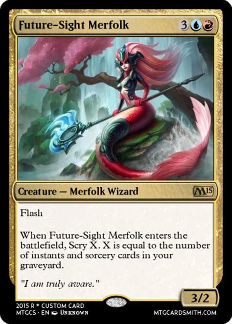 future sight merfolk by sirwarriorlegend mtg cardsmith