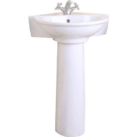 Home Depot Corner Pedestal Sink by Evolution Corner Pedestal Combo Bathroom Sink In