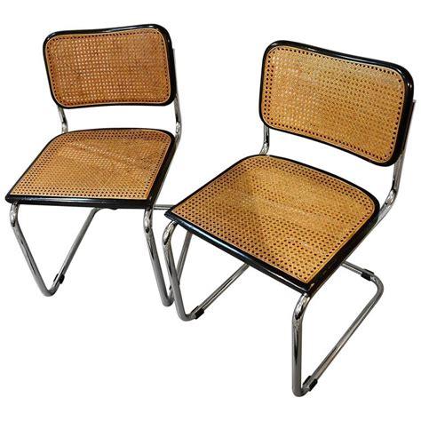 vintage set of original marcel breuer cesca chairs for