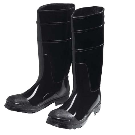 Rubber Boots Home Depot by West Chester Pvc Black Steel Toe Steel Shank Boot 8350 11