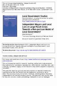 (PDF) Independent Mayors and Local Lists in Large Polish ...