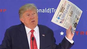 Donald Trump: Union Leader Newspaper 'Is a Piece of ...
