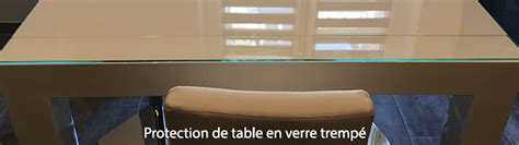 protection de table en verre trempe