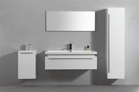 meuble haut salle de bain blanc laque