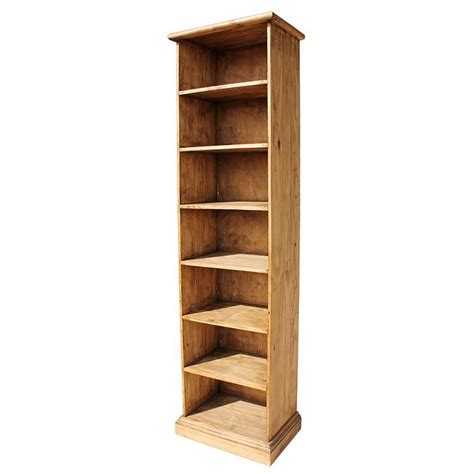 Rustic Pine Collection  Narrow Rustic Bookcase Acc102