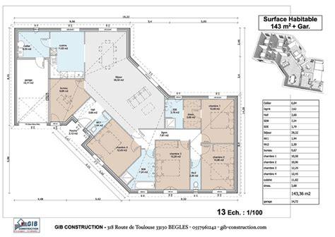 gib construction r 233 alisations rdc maison en v maison construction