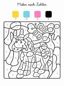 Kinder Bilder Malen : kostenlose malvorlage malen nach zahlen pferd ausmalen zum ausmalen ~ Markanthonyermac.com Haus und Dekorationen