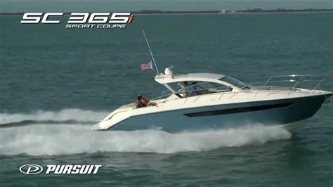 Boat R Videos by Pursuit Boats Sc 365i Running Video Youtube