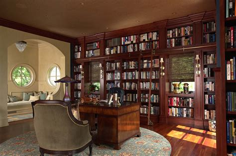 Home Library : Fabulous Home Libraries Showcasing Window Seats