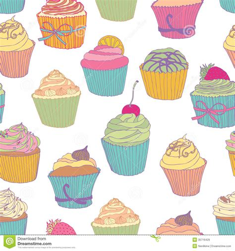 Cupcake pattern stock vector. Image of party, cubes, diet   35716429