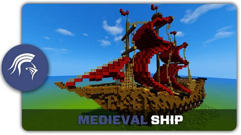 Minecraft Boat Building Guide by Minecraft Building Tutorial How To Build A Medieval Ship