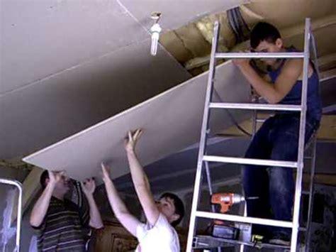 pose de placo au plafond du s 233 jour