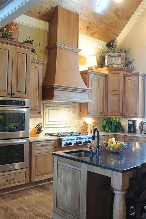 Traditional Cabinets And Dark Countertop Island  Cabinets. Ceramic Countertop. Beach Wall Decals. Drought Tolerant Yards. Glass Door Fridge. Pendant Lamps. Oriental Screens. Solid Glass Backsplash. Fine Line Homes