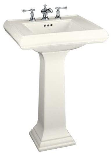 kohler memoirs pedestal sink traditional bathroom