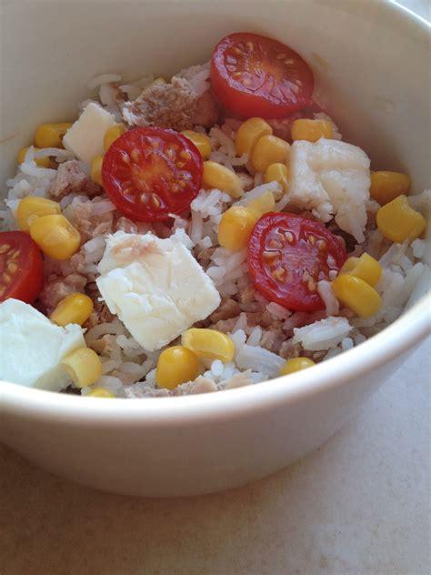 salade riz thon feta recettesansfour