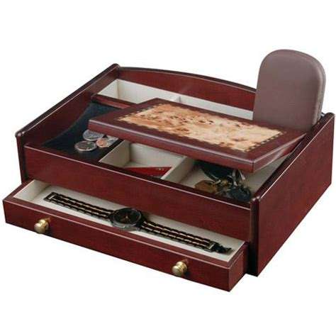 Mens Wooden Dresser Valet by Mens Jewelry Box And Dresser Valet In Jewelry Boxes And
