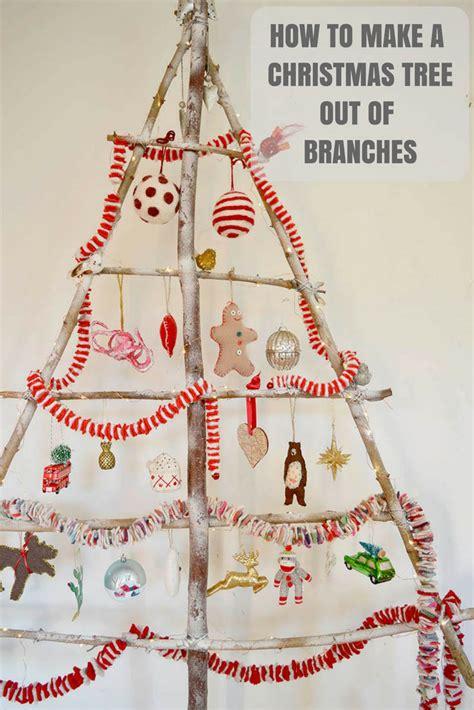 Stylish Branch Diy Christmas Tree  Pillar Box Blue