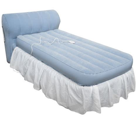 aerobed raised bed with headboard and dust ruffle qvc