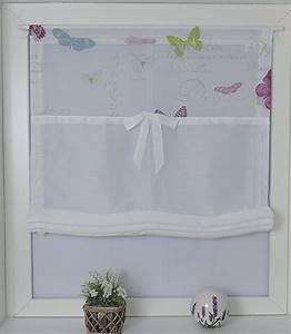 Kinderzimmer Gardinen Schmetterling : raffrollo kutti roma butterfly mit stangendurchzug 1 st ck online kaufen otto ~ Markanthonyermac.com Haus und Dekorationen