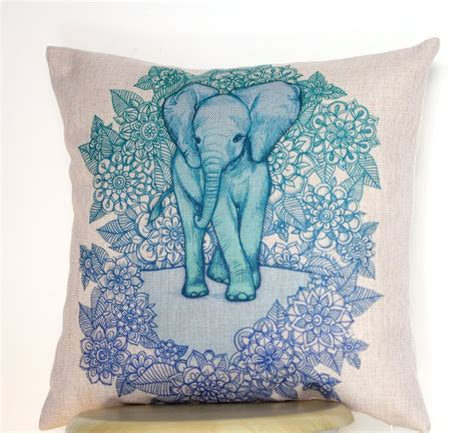 18 quot linen pillow cushion cover throw decorative cushion covers 45cm 45cm blue floral baby