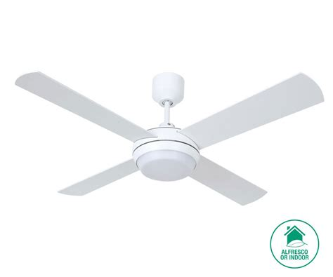 altitude eco 122cm fan with led light in white ceiling