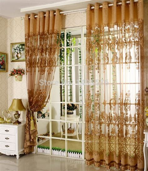 2015 european style fancy design tulle curtain with blackout shade curtains for home living room