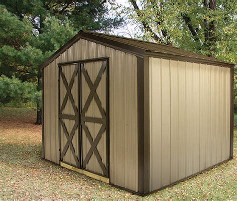 midwest manufacturing e z build 10 w x 12 d gable shed at