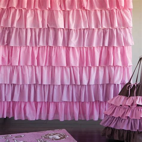 pink and grey ruffle shower curtain curtain best ideas