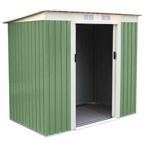 charles bentley green 6ft x 4ft metal garden door shed outdoor storage ebay